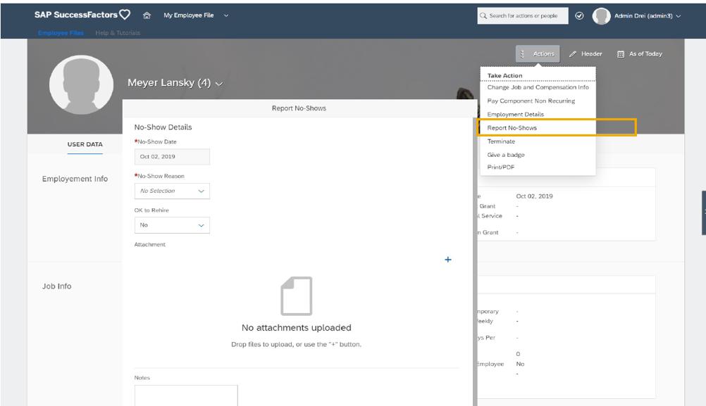 SAP SuccessFactors Employee Central 2019 Q4 update New Hires