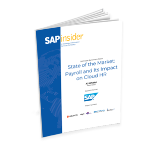 SAPinsider report payroll and its impact on cloud