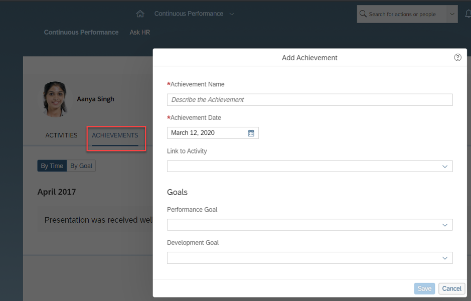 SAP SuccessFactors H1 2020 Performance Management Release