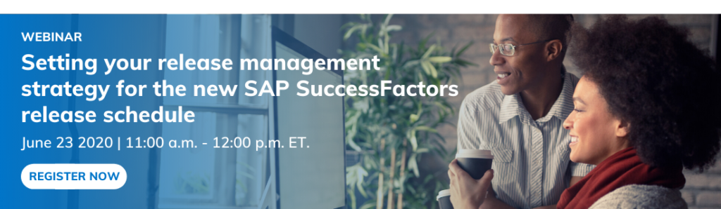 new SAP SuccessFactors release strategy