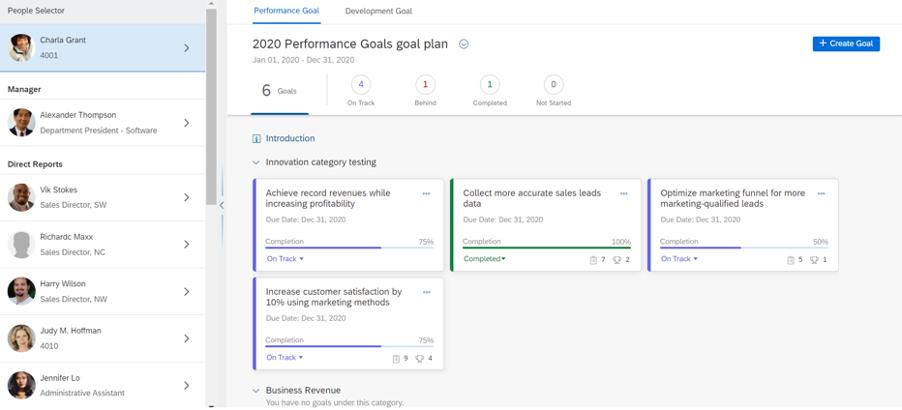 SuccessFactors H2 2020 Performance and Goals