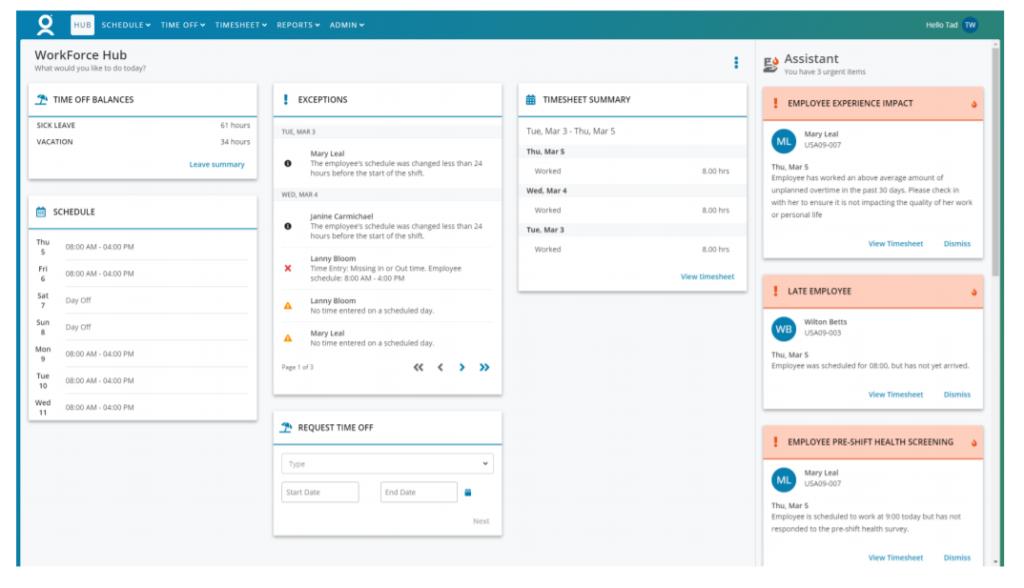 Workforce Software Vision Hub