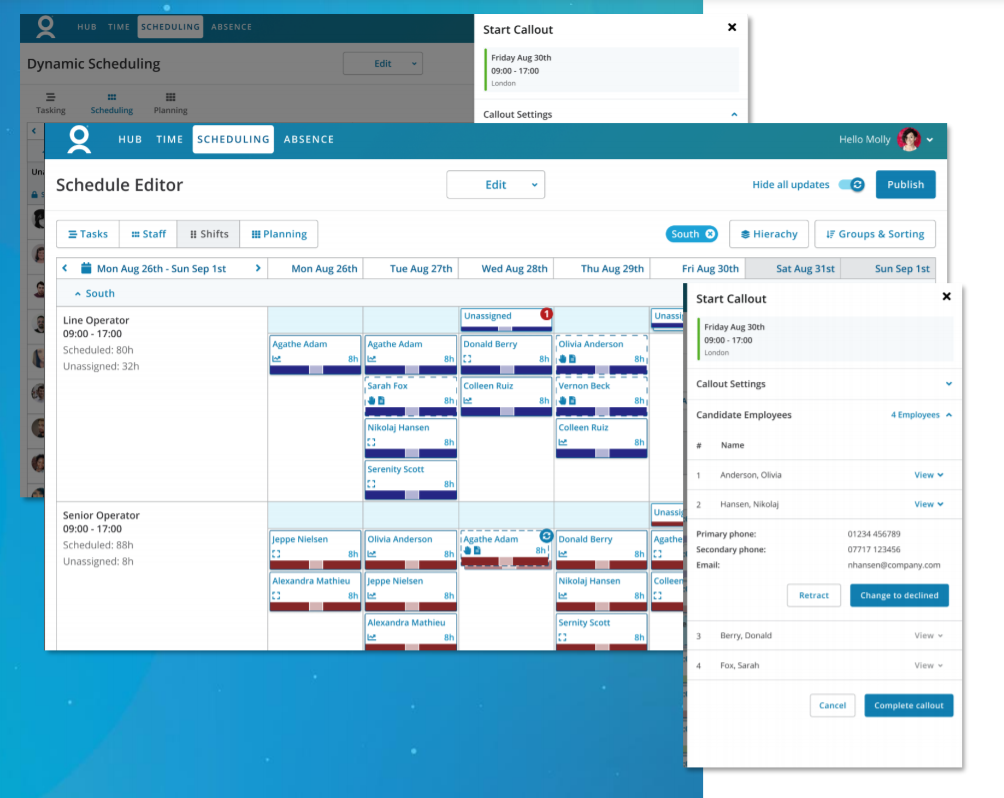 Workforce Software Vision dynamic scheduling