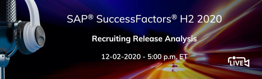 SuccessFactors H2 2020 Recruiting release update analysi