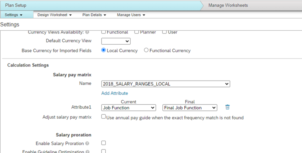 SuccessFactors H2 2020 compensation and variable pay