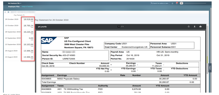 H2 2020 SuccessFactors Employee Central Payroll release