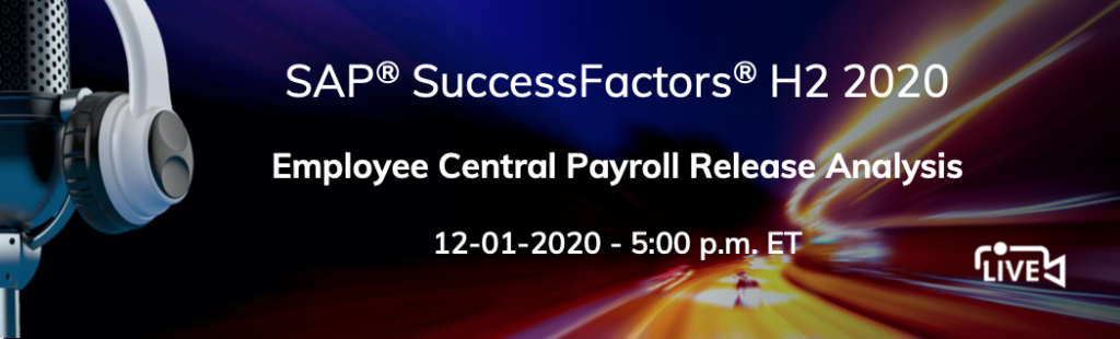 H2 2020 SuccessFactors Employee Central release