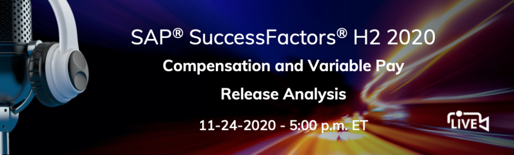 SuccessFactors H2 2020 Compensation and Variable pay release