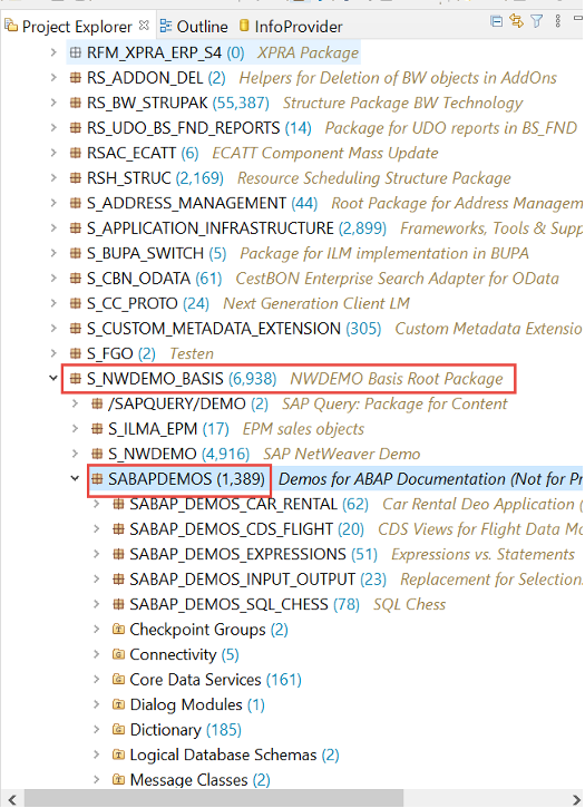 How to find Root Package CDS view ABAP SAP