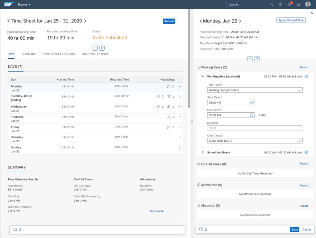 SAP SuccessFactors Time Tracking
